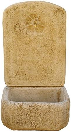 CATART Fuente de jardín en hormigón-Piedra con Grifo Decorativa 50X50X100cm.: Amazon.es: Jardín