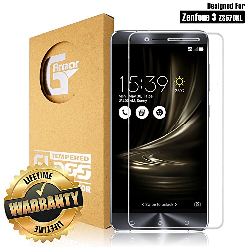 Zenfone 3 Deluxe (ZS570KL) Screen Protector by G-Armor - Ultra Clear Scratch Proof 9H Premium Tempered Glass Protective Screen Cover