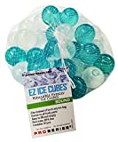 reusable ice cubes - EZ Ice Cubes - Round - Reusable Freezer Ice Cubes (30 pieces per net) - Use for Cold Therapy / Pain Relief or Keep Your Drinks Cool