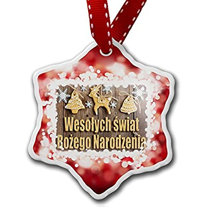christmas gifts merry christmas in polish from poland red xmas decor ornament home decorations hanging crafts
