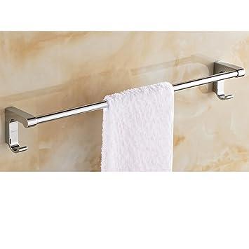 amazon com towel bar single pole wall drying towel rack bathroom