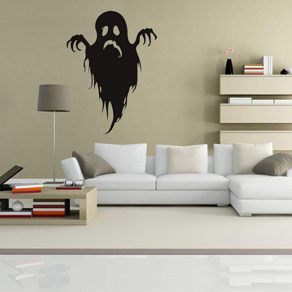 Amazon.com: Kiar Halloween Pegatinas de pared Horror Puerta ...