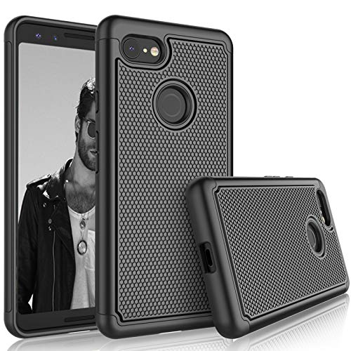 Hard Plastic Silicone - Google Pixel 3 Case, 2018 Google Pixel 3 Sturdy Case, Tekcoo [Tmajor] Shock Absorbing [Black] Rubber Silicone & Plastic Scratch Resistant Bumper Grip Cute Hard Phone Cases Cover