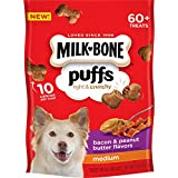 Milk-Bone Puffs Peanut Butter and Bacon Dog Treats, 8 oz (Pack of 4)