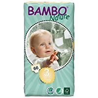 Bambo Nature Midi Size 3 (11-20lb / 5-9kg) Premium Eco-Nappies - 66 pieces per Tall Pack