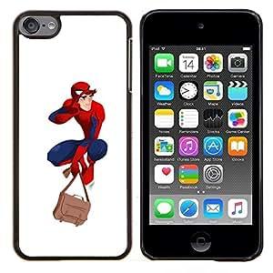 "Be-Star Único Patrón Plástico Duro Fundas Cover Cubre Hard Case Cover Para iPod Touch 6 ( Traje de superhéroe azul rojo Máscara Boy Hombre"" )"