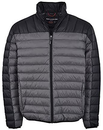 Hawke & Co Men's Packable Down Puffer Jacket II (Small, Charcoal/Black)