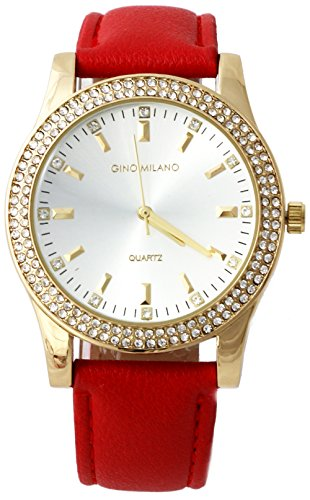 Ladies Wallet Sets With Matching Watch -Red by Gino Milano (Image #2)