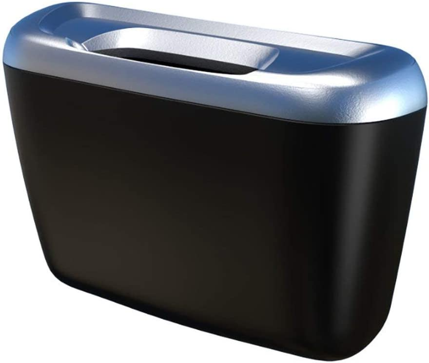 Black Car Trash Bin Frame Auto Garbage Bin Auto Rubbish Storage Waste Organizer Holder Bag Bucket Accessories