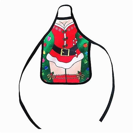 TONVER Adornos de Botella de Vino, Mini Delantal de Navidad Rojo Botella de Vino Set