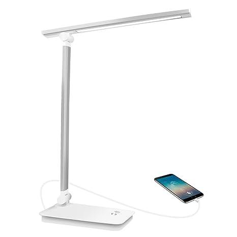 Lámpara Escritorio LED, Lámparas de Mesa USB Regulable Recargable ...