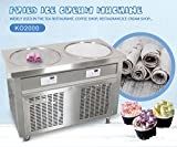 My Ice World US WH snack food street food fast food machine ETL UL NSF 55cm double pans roll ice cream machine ice cream roll machine fry ice cream machine fried ice cream machine for Bars,Cafes,Hotel