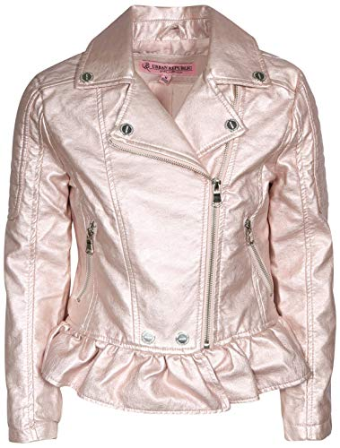 (Urban Republic Toddler & Big Girls Faux Leather Motorcycle Moto Biker Jacket (5/6, Rose)
