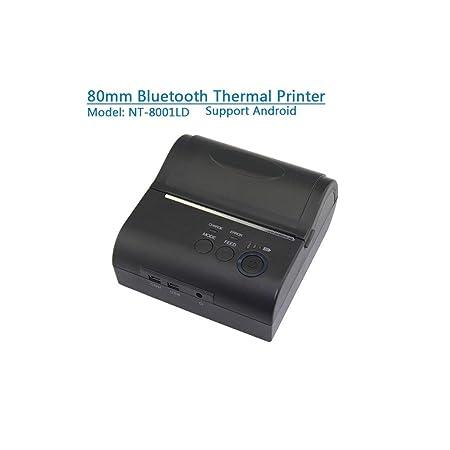 OXHARY Impresora térmica portátil Mini 58mm Impresora de Recibos ...