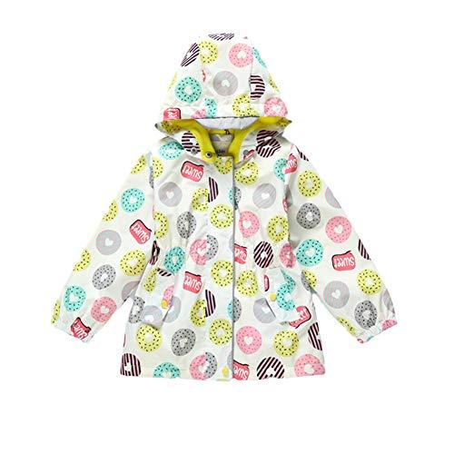 JCJTECH Girls Lightweight Jacket Hooded Windbreaker Spring Autumn Coat Outer Wear for Girls 3-11 Years Old (6-7Y) by JCJTECH