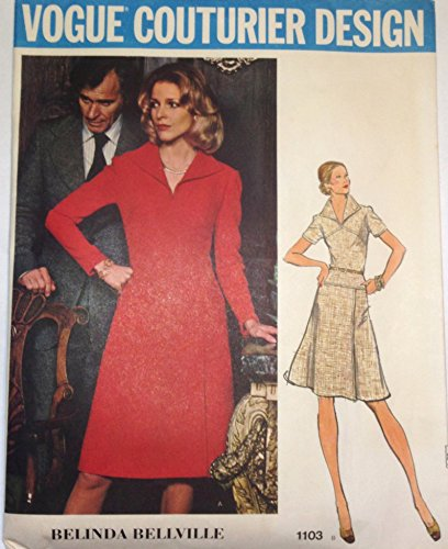 (Vintage VOGUE COUTURIER DESIGN PATTERN #1103 SIZE: 14 **MISSES' SEMI-FITTED DRESS** A Belinda Bellville Pattern)