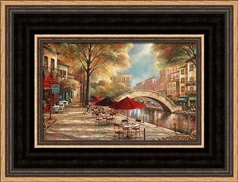 .com: riverwalk charm - framed art print - 4x6 fine art print ...