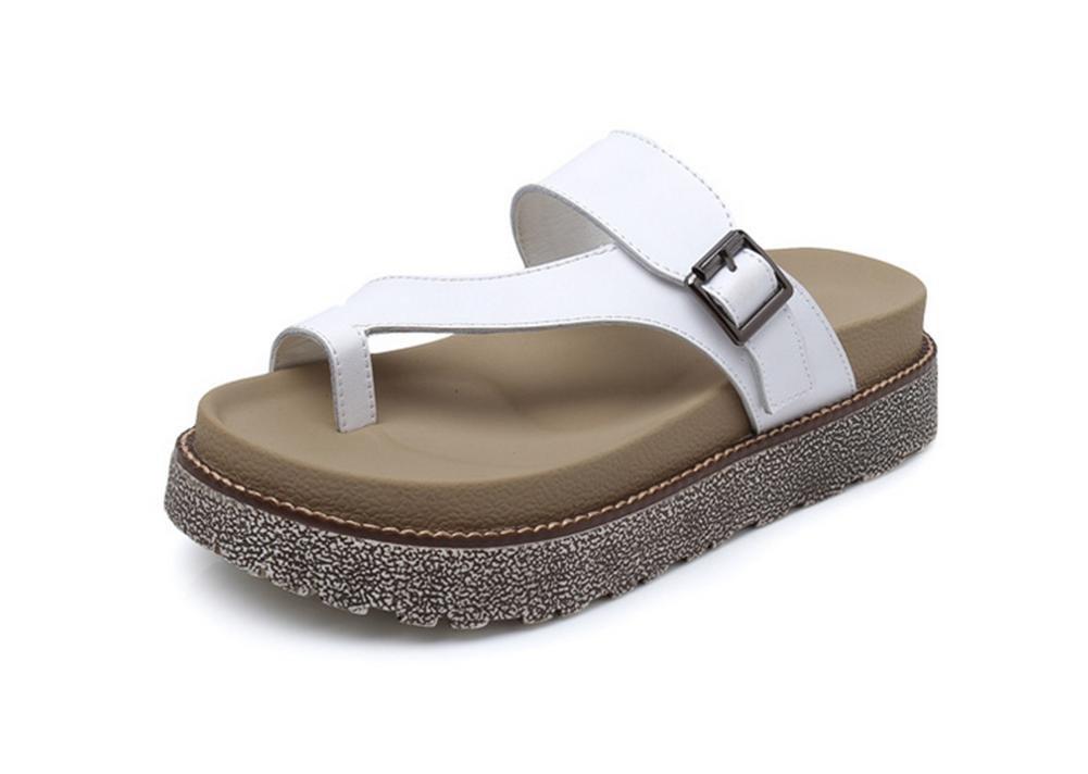 RuiSchlanke Pantoffel Damen Sommer Mode flache Sandaleen Zehen Sandaleen