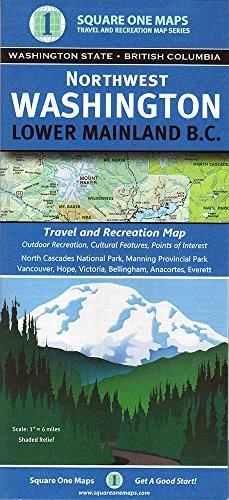 Northwest Washington, Lower Mainland - Square Washington Map