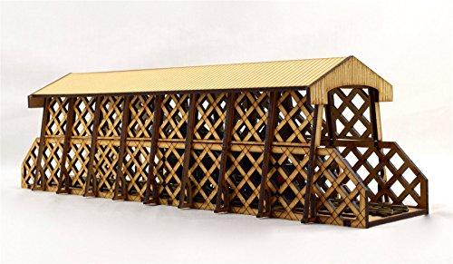 wws War World Scenics OO/HO Gauge Lattice Tunnel Bridge - Model Railways Layout Terrain Scenery