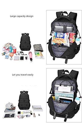 Maler Schule Rucksack für Boys Laptop Computer Taschen Casual Rucksack Travel Daypack mit USB-Schnittstelle blue