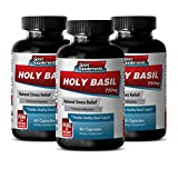 Product review for Antioxidant miracle - HOLY BASIL EXTRACT 750Mg For Natural Stress Relief - Holy basil alcohol free - 3 Bottles 180 Capsules