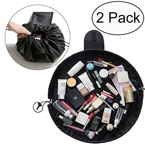 Price comparison product image TANTO Lazy Makeup Bag Drawstring Cosmetic Bag Portable Quick Pack Travel Makeup Pouch Case Multifunctional Waterproof Toiletry Bags Makeup Brushes Storage Organizer Perfect for Women Girls (2 Pack)