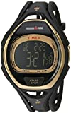 Timex Unisex TW5M06000 Ironman Sleek 50 Full-Size Black/Gold-Tone Resin Strap Watch