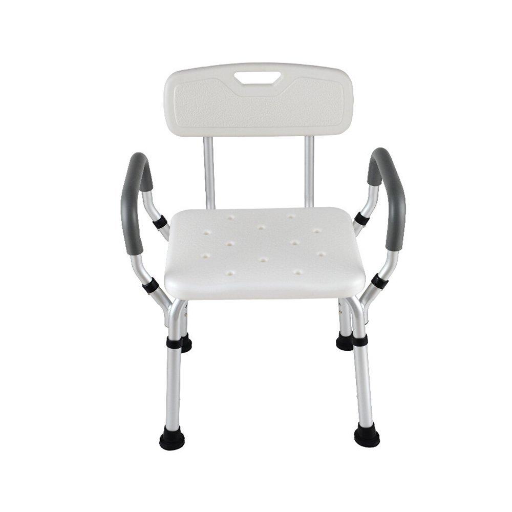 スペシャルオファ バスルーム椅子高さ調節可能なアルミシャワースツール高齢者/身体障害者用バスルーム肘掛けと背もたれ付き B07G1CCJ8R B07G1CCJ8R, 家具のマルケン:425a85a7 --- calleridpop.com