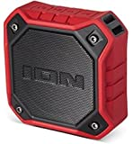 Ion Audio Dunk Water-Resistant Portable Bluetooth Speakers, Red