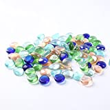 NACOLA 500G Mixed Color Tumbled Matte Beach Sea Glass Beads for Aquarium Craft,Fish Tank Garden Decorative Stones Pebbles Polished Gravel