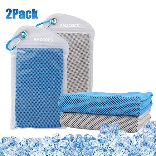 AMZCOCS Cooling Towel, 2Packs Workout Towel, Cool Bowling Fitness Yoga Towel Set- 40