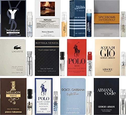 High End Designer Fragrance Sampler for Men - Lot x 12 Cologne Vials ()