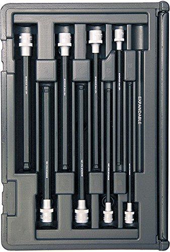 Bondhus 30887 Socket Ball End Bit Tool Set with Sockets, 6