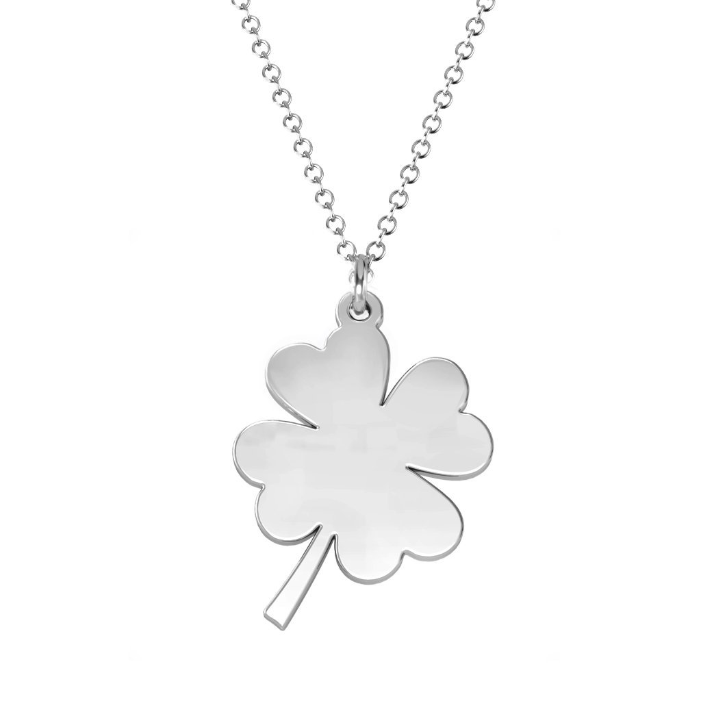 10K Gold Four Leaf Clover Necklace by JEWLR