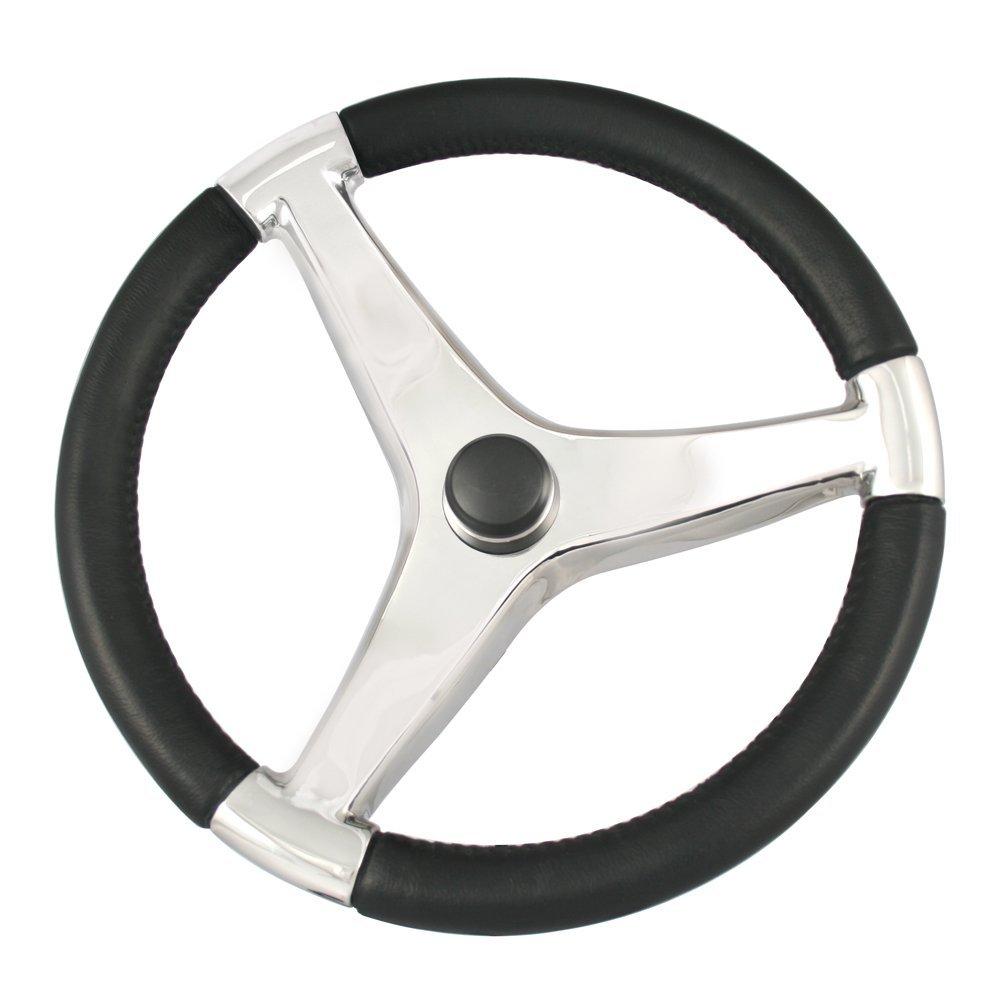 【ポイント10倍】 Schmitt Marine Cast & Ongaro Marine - 7241521FG Schmitt Evo Pro 316 Cast Stainless Steel Steering Wheel - 15.5