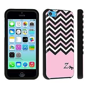 DuroCase ? Apple iPhone 5c Hard Case Black - (Black Pink White Chevron Z)