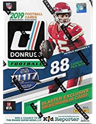 2019 Donruss Football Unopened Blaster Box of Packs with One Exclusive Memorabilia Card and 11 Rookie Cards in Each Box Try for Kyler Murray and Dwayne Haskins Rookie Cards Plus