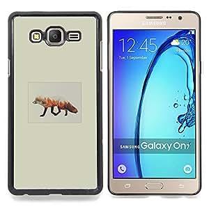 - Fox Forrest - - Cubierta del caso de impacto con el patr??n Art Designs FOR Samsung Galaxy On7 G6000 Queen Pattern