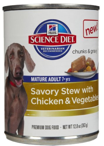 Hill's Science Diet Adult 7+ Savory Stew Canned Dog Food - C