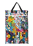 Large Hanging Wet/dry Cloth Diaper Pail Bag for Reusable Diapers or Laundry (Sea Festival)