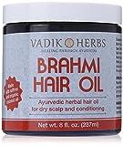 Brahmi Hair Oil (8 oz)   all natural herbal hair oil for hair growth, hair conditioning, dandruff and dry scalp   herbal scalp treatment