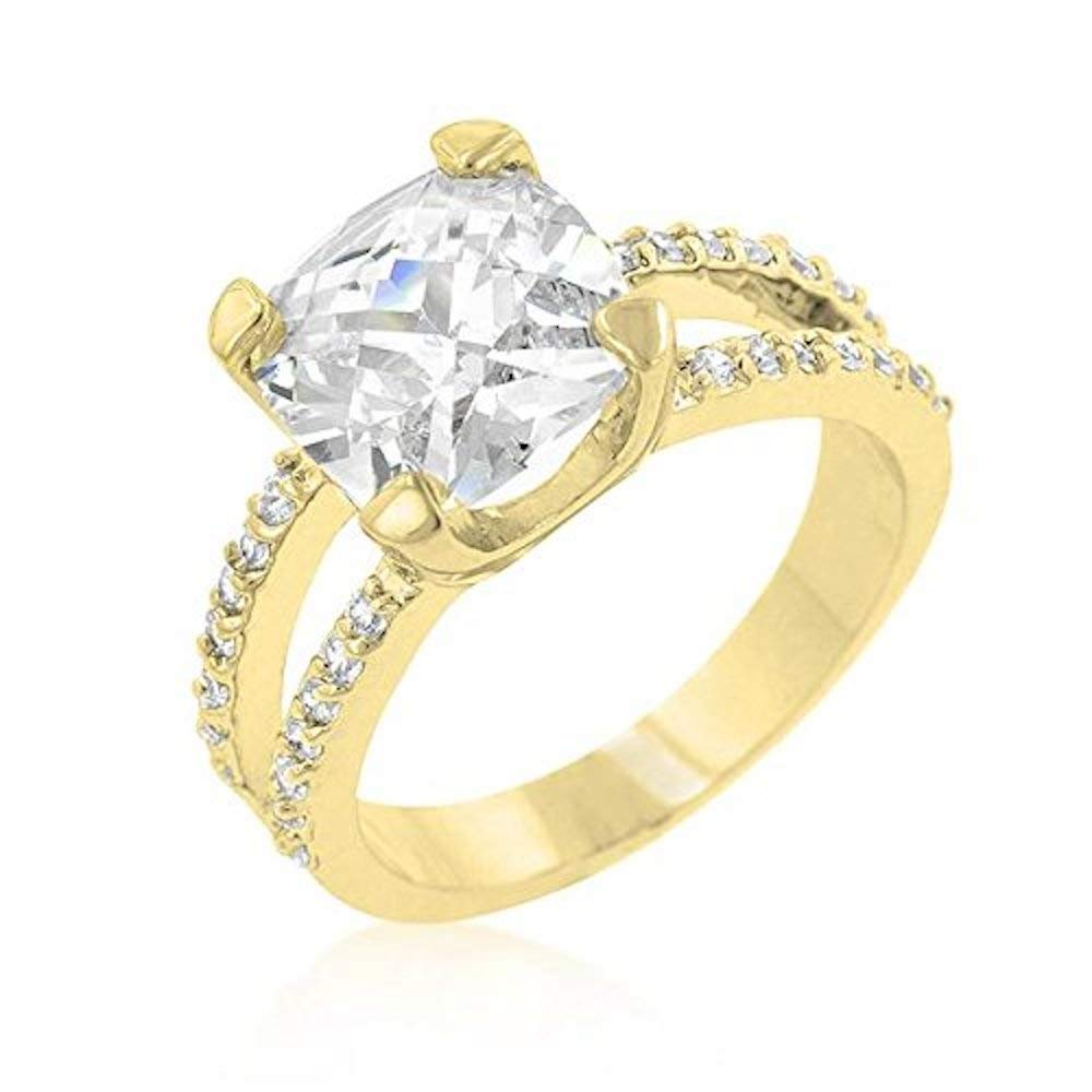 Covet Double Band Cubic Zirconia Engagement Ring