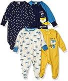 Gerber Baby Boys' 4 Pack Sleep N' Play Footie, Fox, Newborn