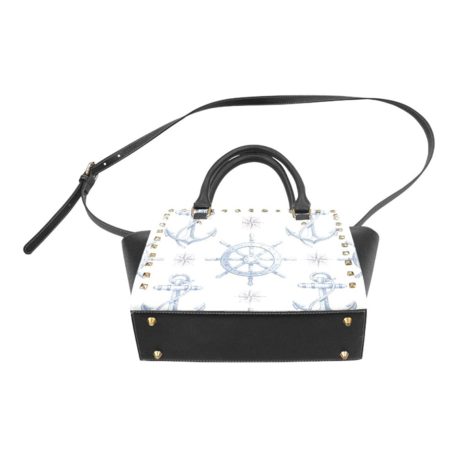 Anchor Rivet PU Leahter Shoulder Handbag For Fashion Women/Girls