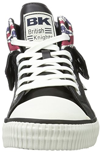 British Knights Roco, Chaussons Montants Homme Schwarz (Textile Black/Union Jack)