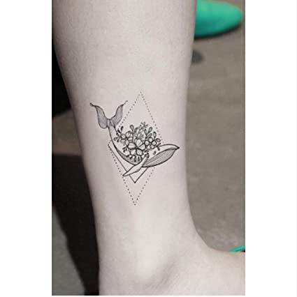 ruofengpuzi Adesivo tatuaggioBallena Delfín Flor Pegatina Tatuaje ...