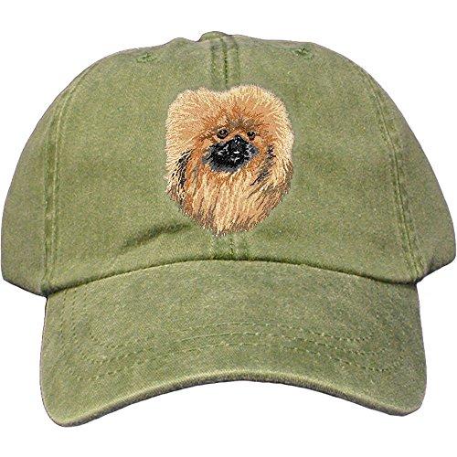 Cherrybrook Dog Breed Embroidered Adams Cotton Twill Caps - Spruce - Pekingese