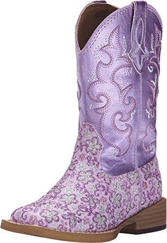 Roper Girls' Lavender Floral Glitter Cowgirl