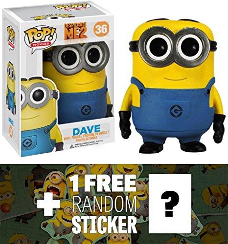 Dave: Funko POP! x Despicable Me 2 Vinyl Figure + 1 FREE Official Despicable Me Mini-Sticker Sheet Bundle [33716]